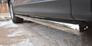 Mazda CX-5 2011- Защита порогов d63 (вариант 3) M5T-0011363
